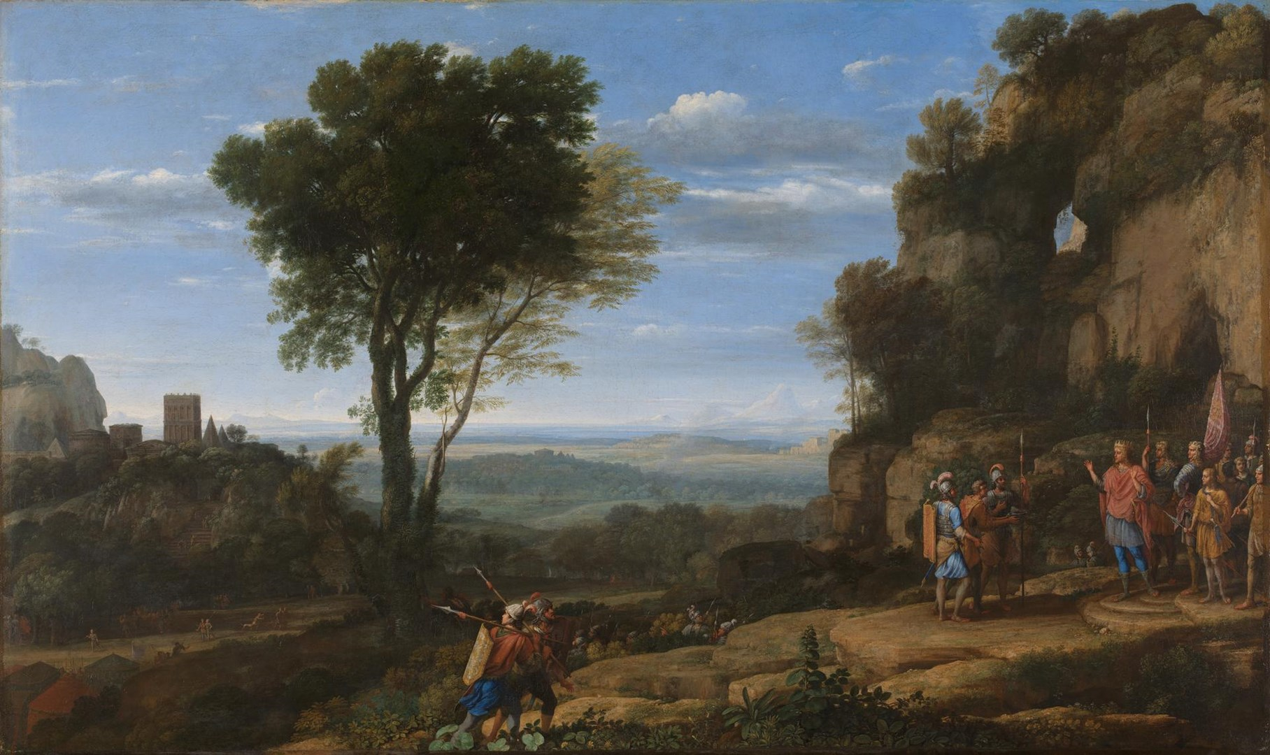 Landscape with David at the Cave of Adullam by Claude