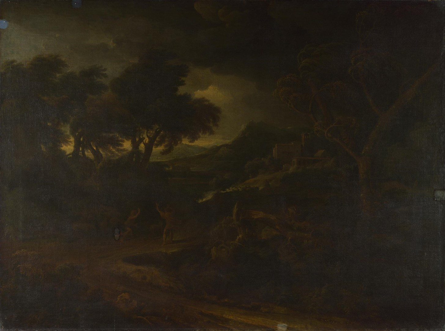 Landscape with a Storm by Gaspard Dughet