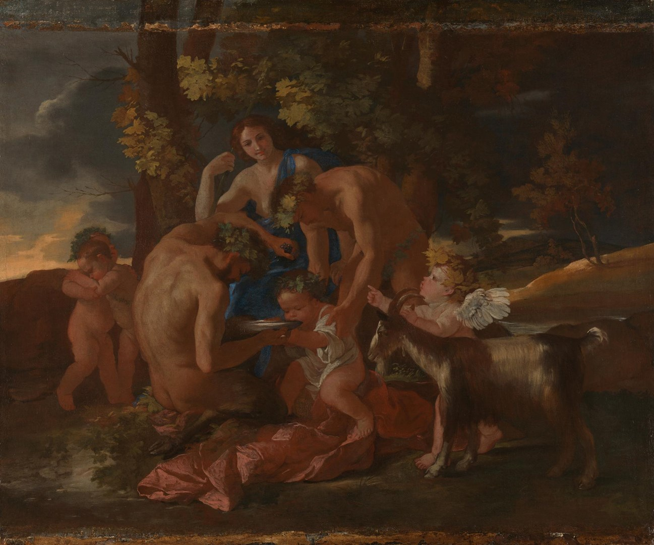 The Nurture of Bacchus by Nicolas Poussin