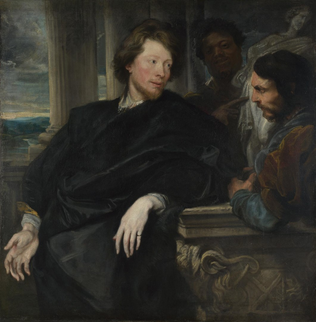 Portrait of George Gage with Two Attendants by Anthony van Dyck
