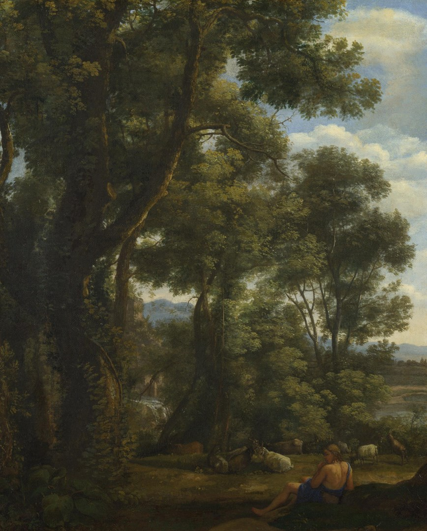 Landscape with a Goatherd and Goats by Claude