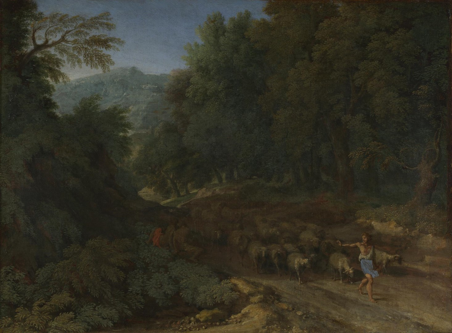 Landscape with a Shepherd and his Flock by Gaspard Dughet