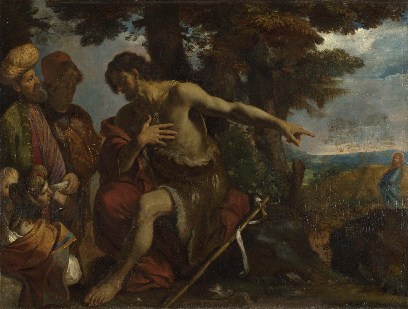 Saint John the Baptist preaching in the Wilderness by Pier Francesco Mola