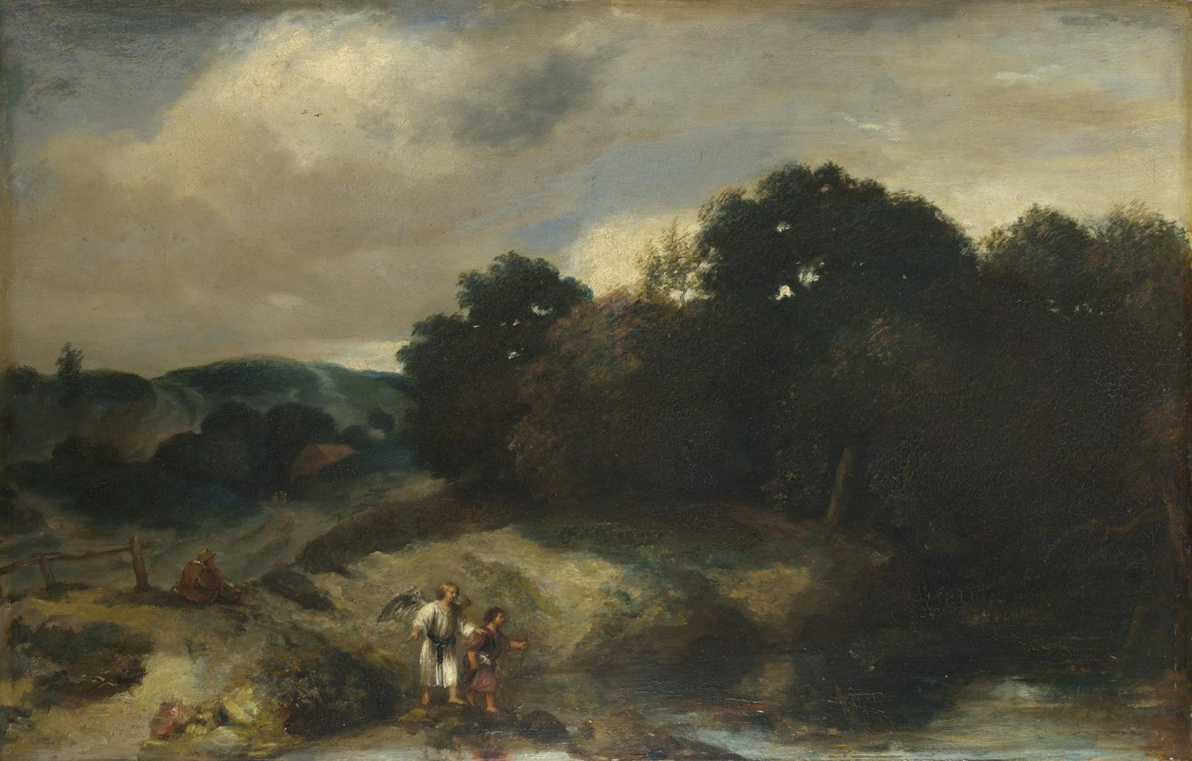 A Landscape with Tobias and the Angel by Jan Lievens