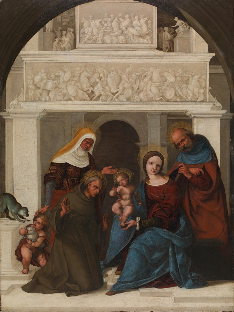 The Holy Family with Saints by Ludovico Mazzolino