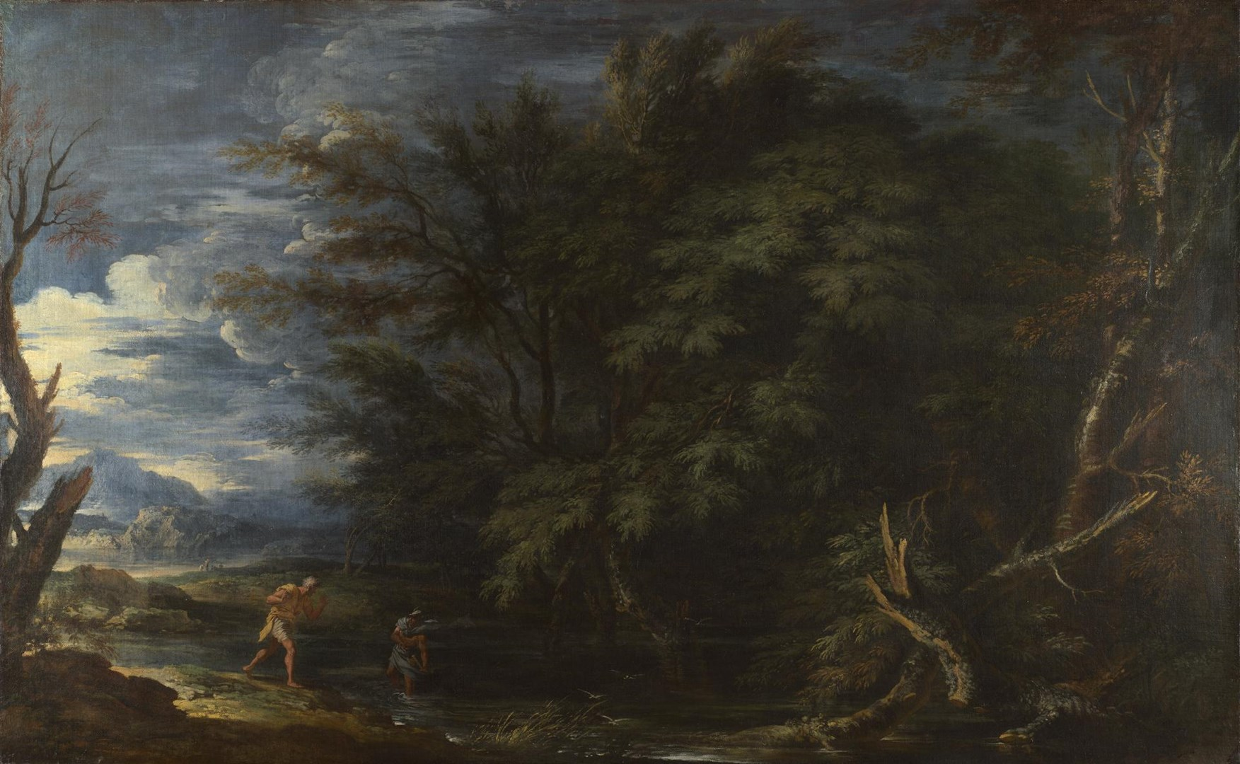 Landscape with Mercury and the Dishonest Woodman by Salvator Rosa
