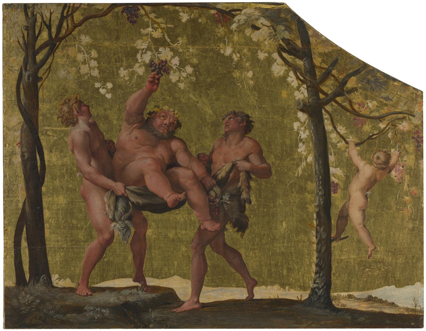 Silenus gathering Grapes by Annibale Carracci