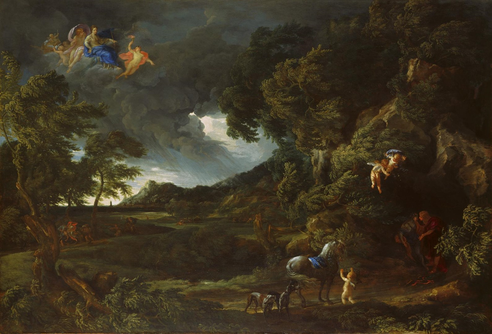 Landscape with the Union of Dido and Aeneas by Gaspard Dughet and Carlo Maratta