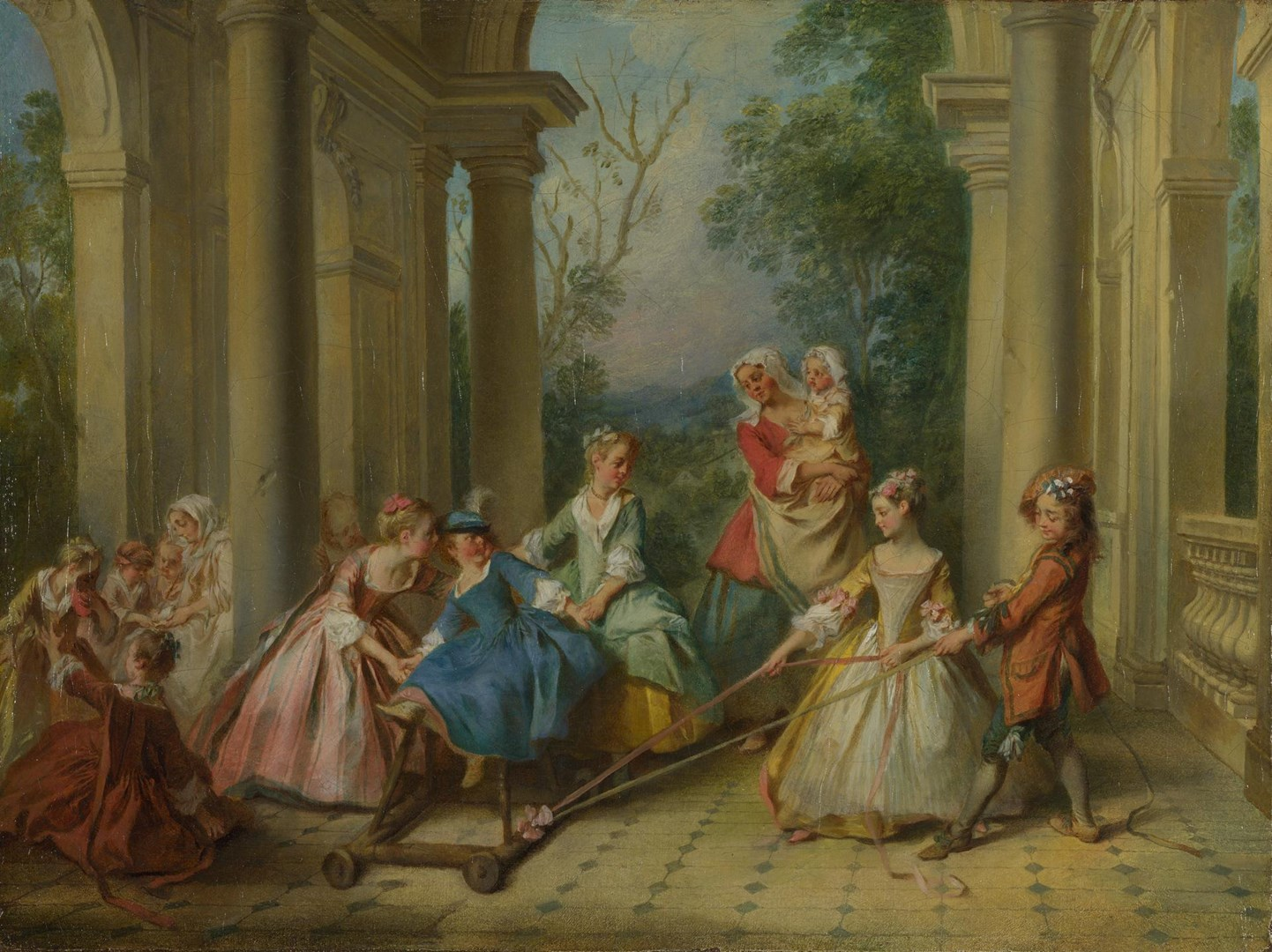 The Four Ages of Man: Childhood by Nicolas Lancret
