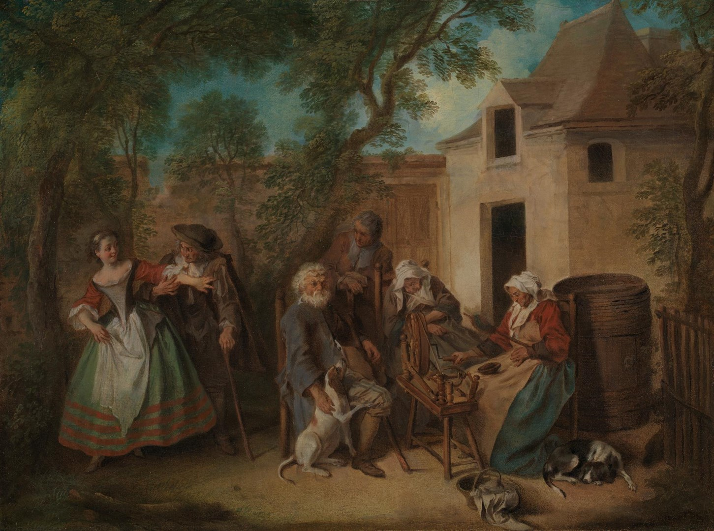 The Four Ages of Man: Old Age by Nicolas Lancret