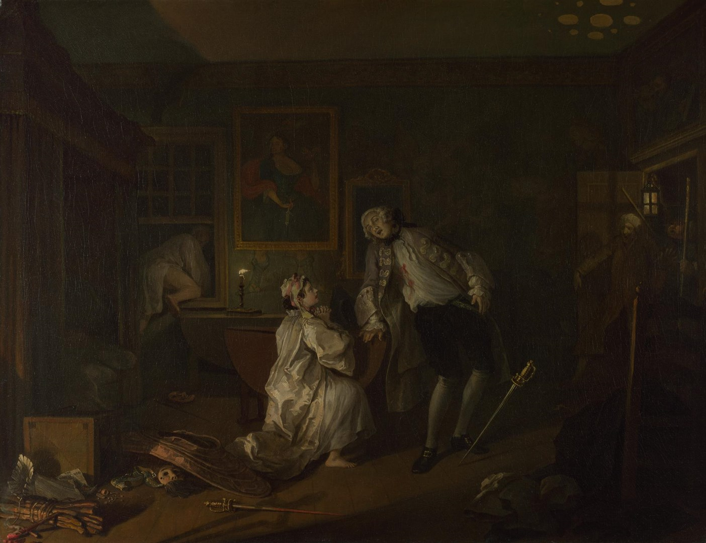 Marriage A-la-Mode: 5, The Bagnio by William Hogarth