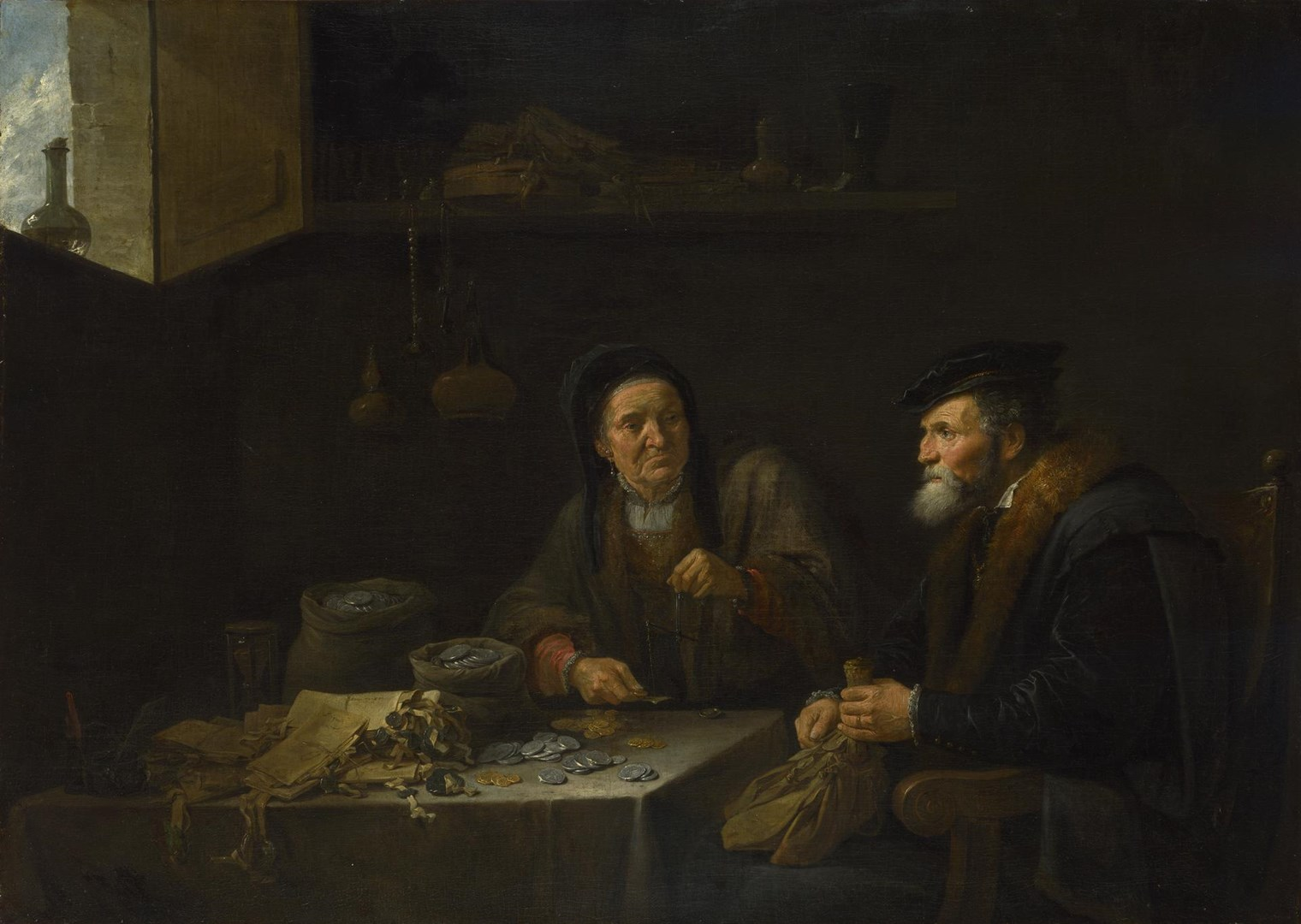 The Covetous Man by David Teniers the Younger