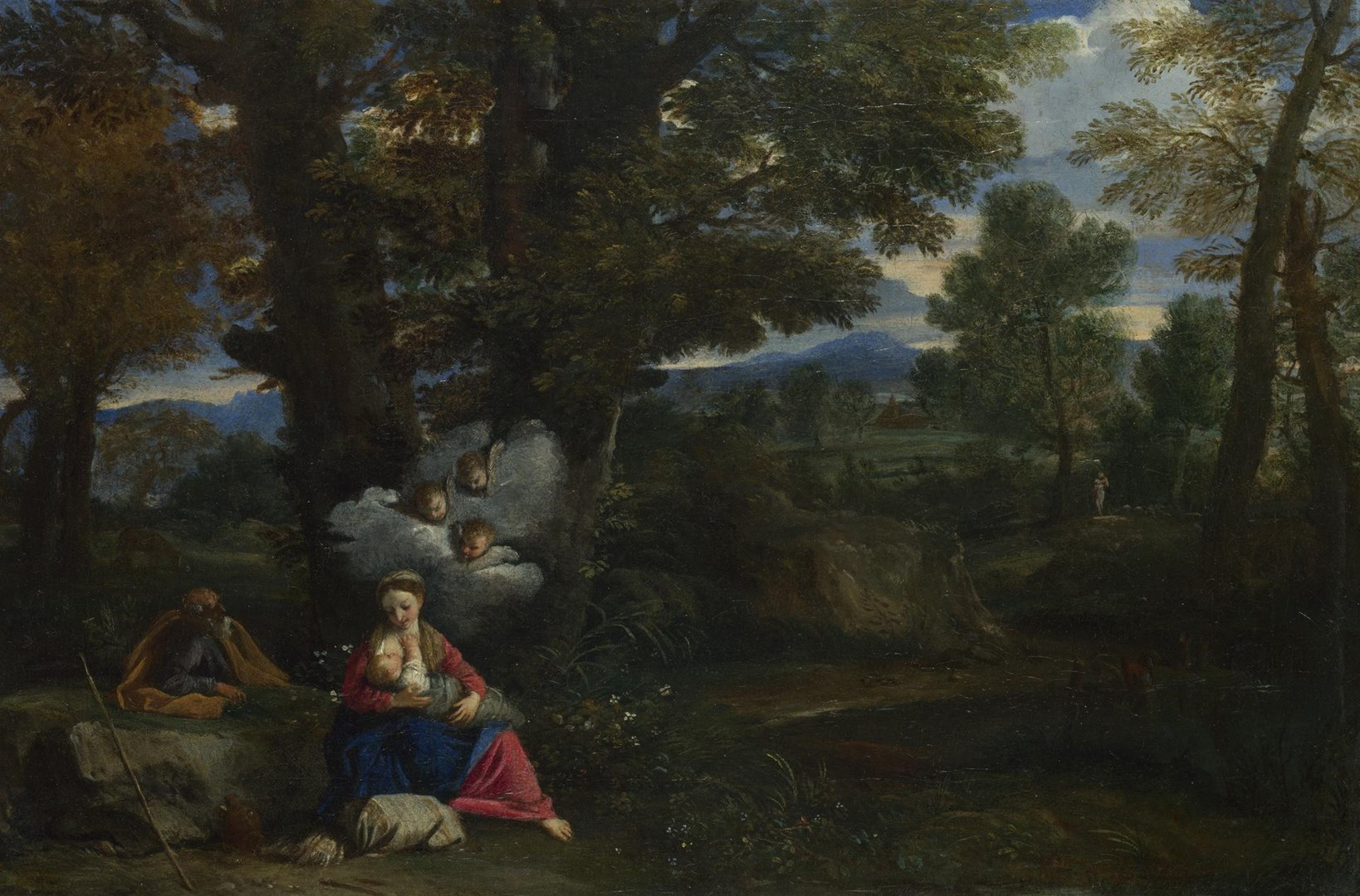 The Rest on the Flight into Egypt by Pier Francesco Mola
