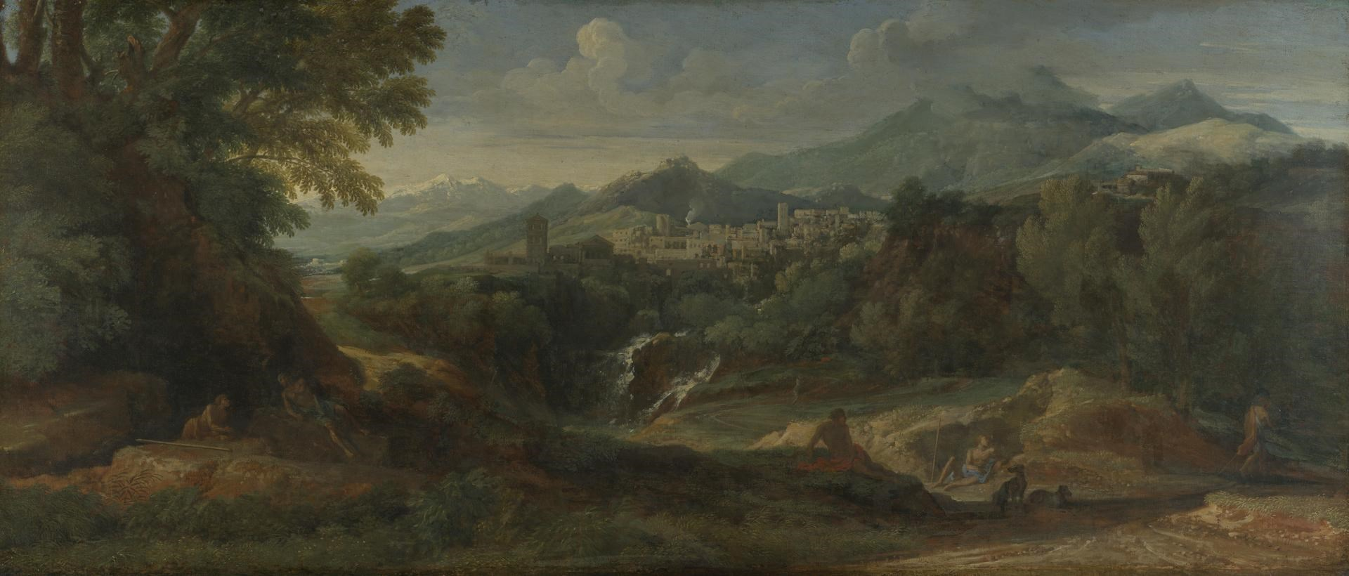 View of the Roman Countryside, possibly Tivoli by Gaspard Dughet