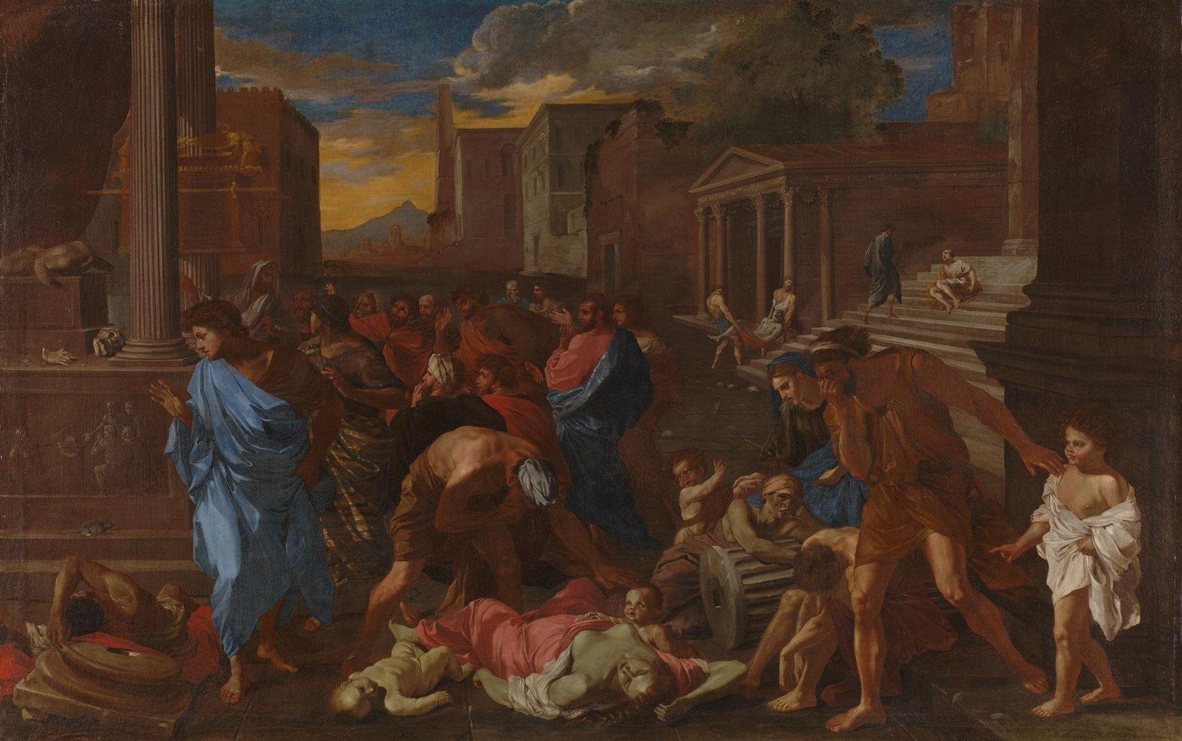 The Plague at Ashdod (after Poussin) by Angelo Caroselli