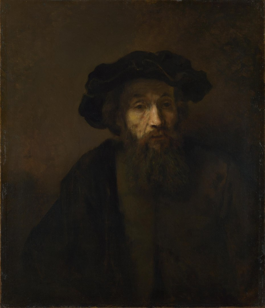 A Bearded Man in a Cap by Rembrandt