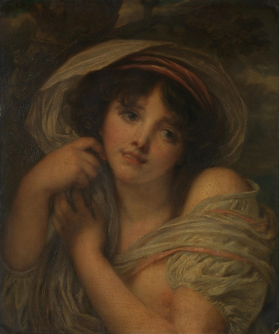 A Girl by Jean-Baptiste Greuze