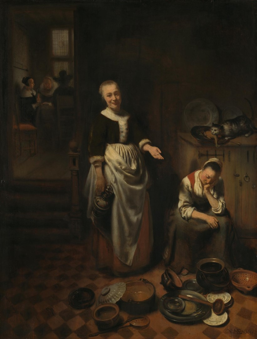 The Idle Servant by Nicolaes Maes