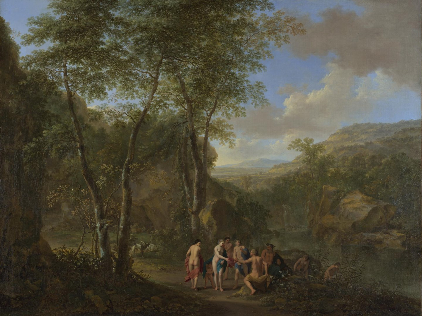 A Landscape with the Judgement of Paris by Jan Both and Cornelis van Poelenburgh