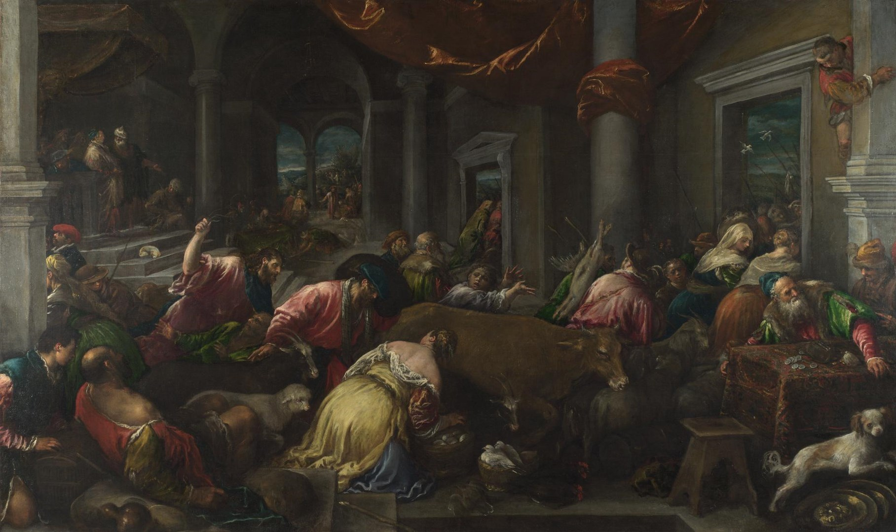 The Purification of the Temple by Jacopo Bassano and workshop