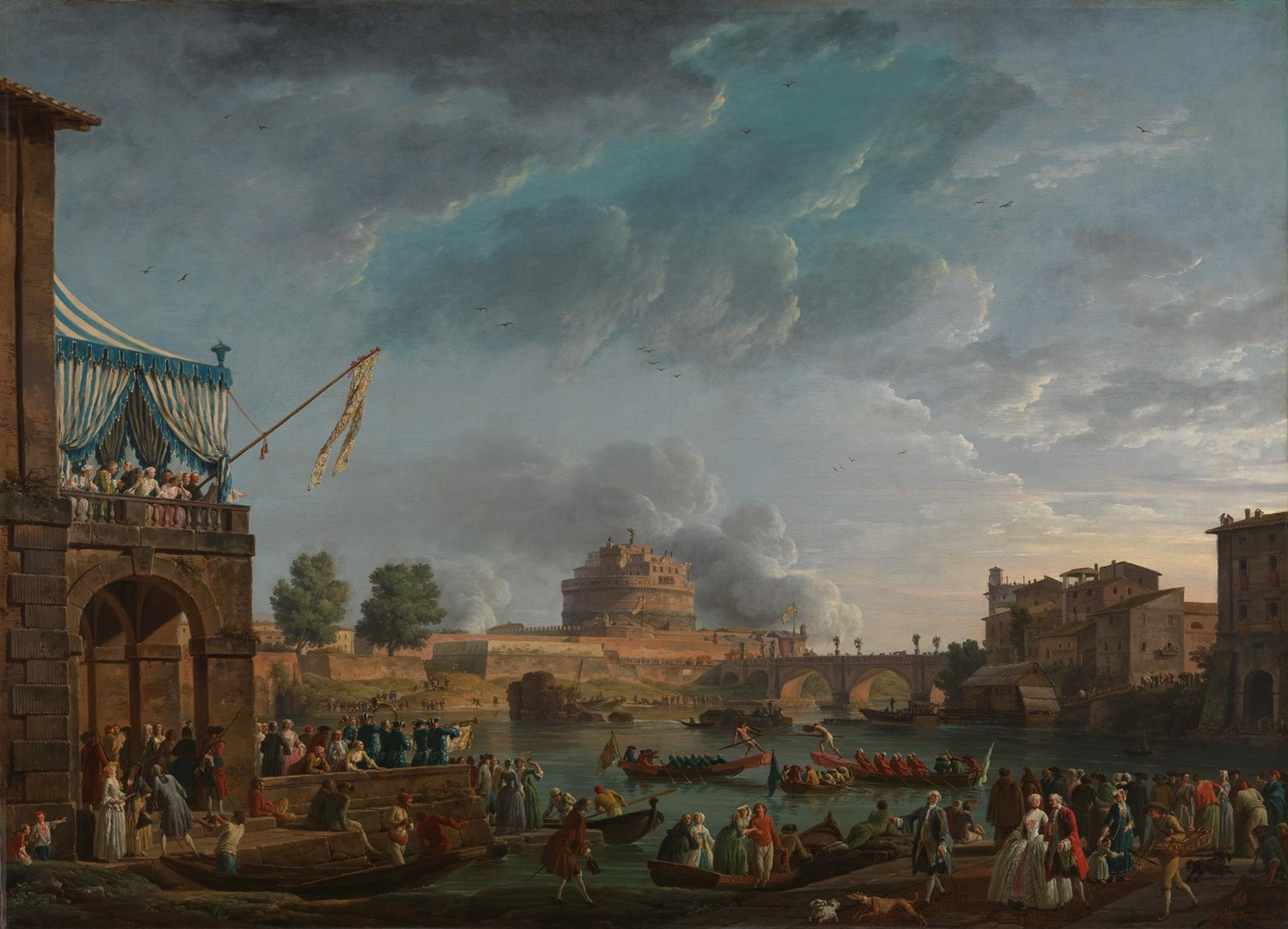 A Sporting Contest on the Tiber by Claude-Joseph Vernet