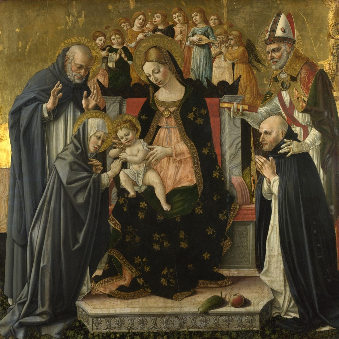 The Marriage of Saint Catherine of Siena by Lorenzo d'Alessandro da Sanseverino