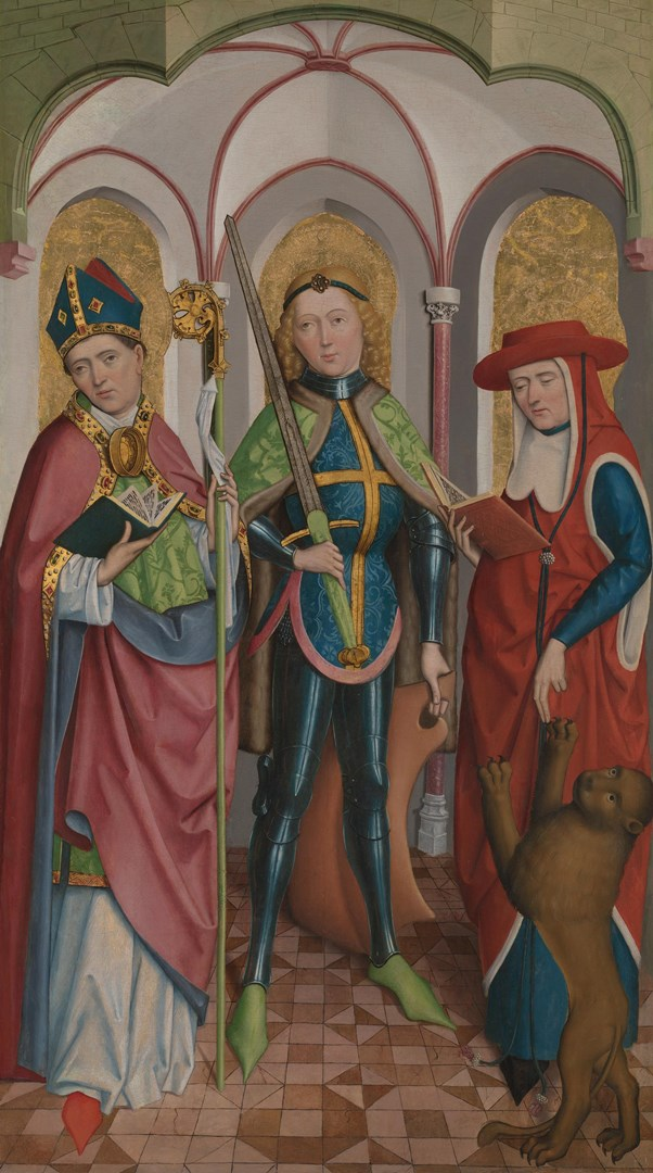 Saints Ambrose, Exuperius and Jerome by Circle of the Master of Liesborn