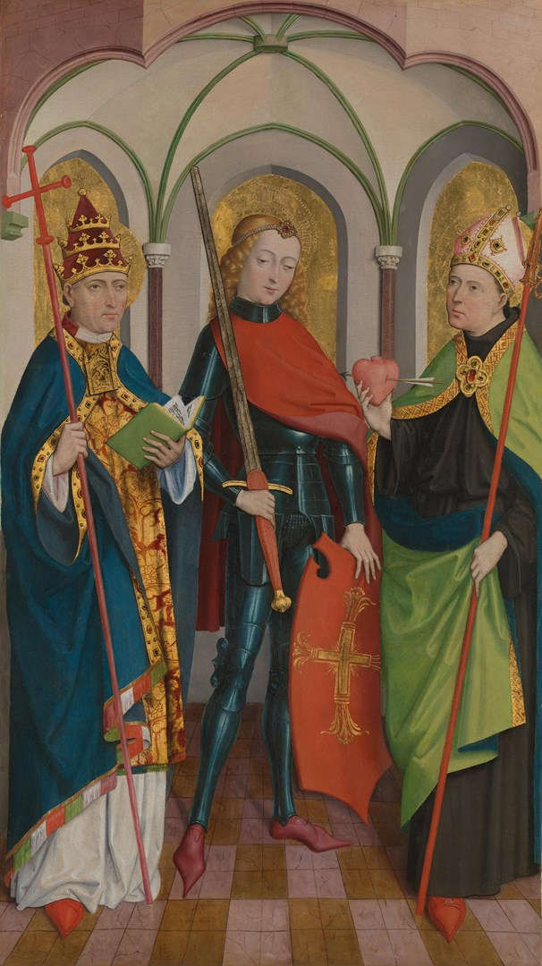 Saints Gregory, Maurice and Augustine by Circle of Master of Liesborn