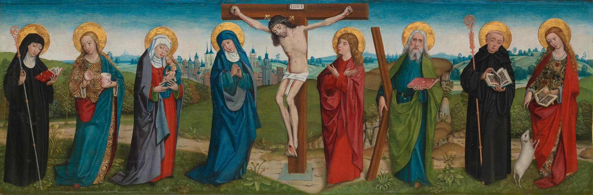 The Crucifixion with Saints by Probably by the Master of Liesborn