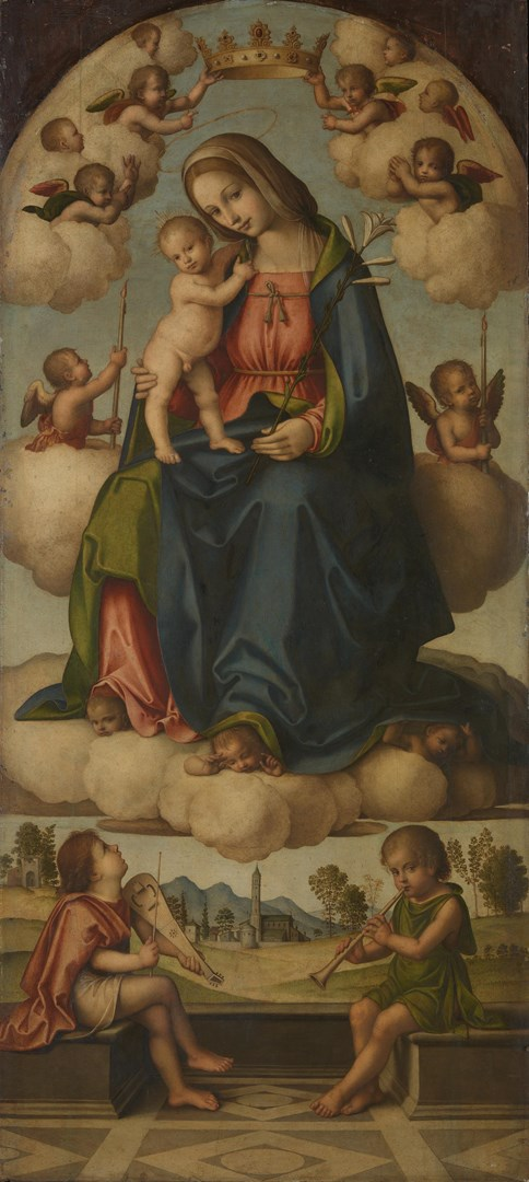 The Virgin and Child in Glory by Giovanni Battista Bertucci the Elder