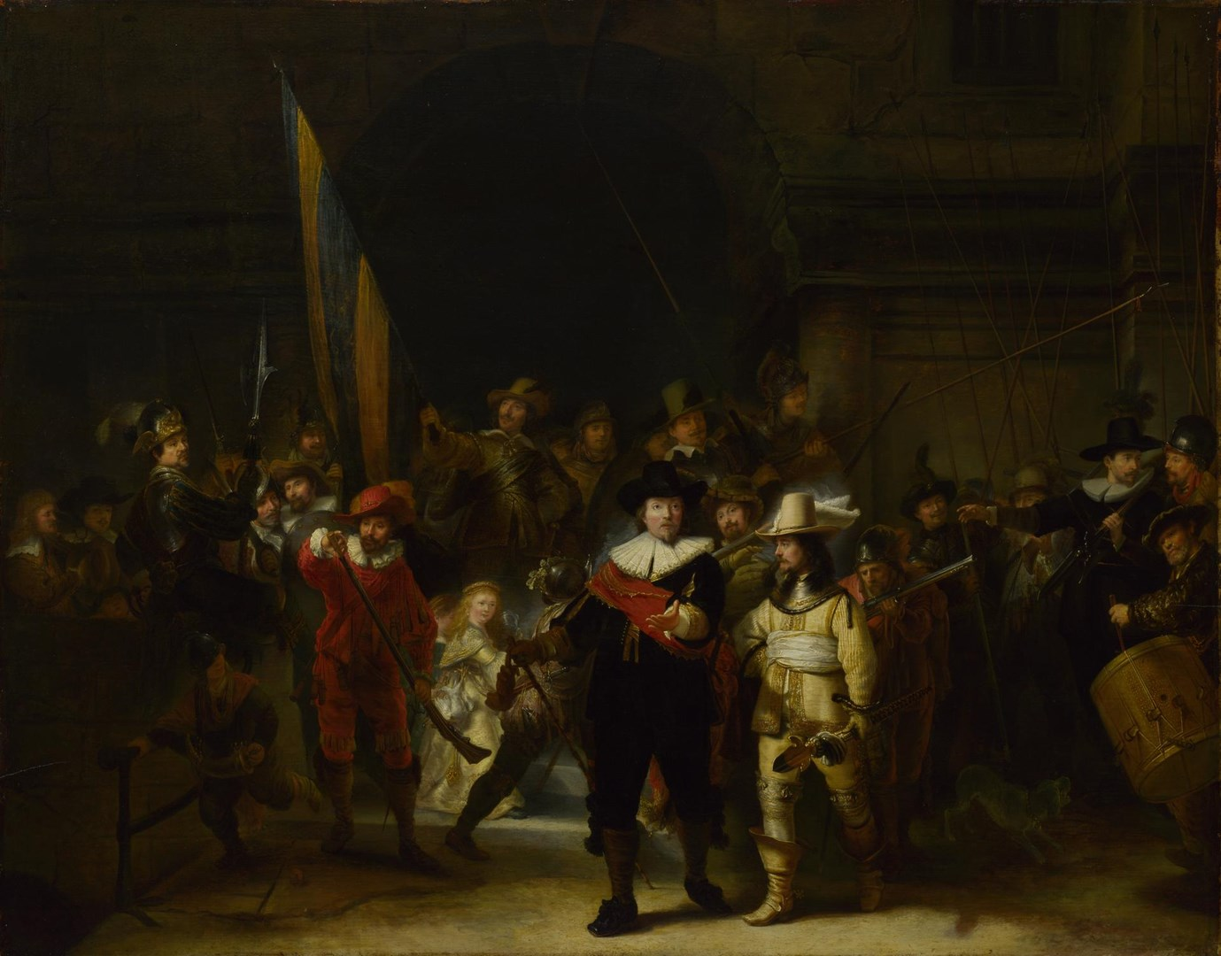 The Company of Captain Banning Cocq ('The Nightwatch') by Gerrit Lundens (after Rembrandt)
