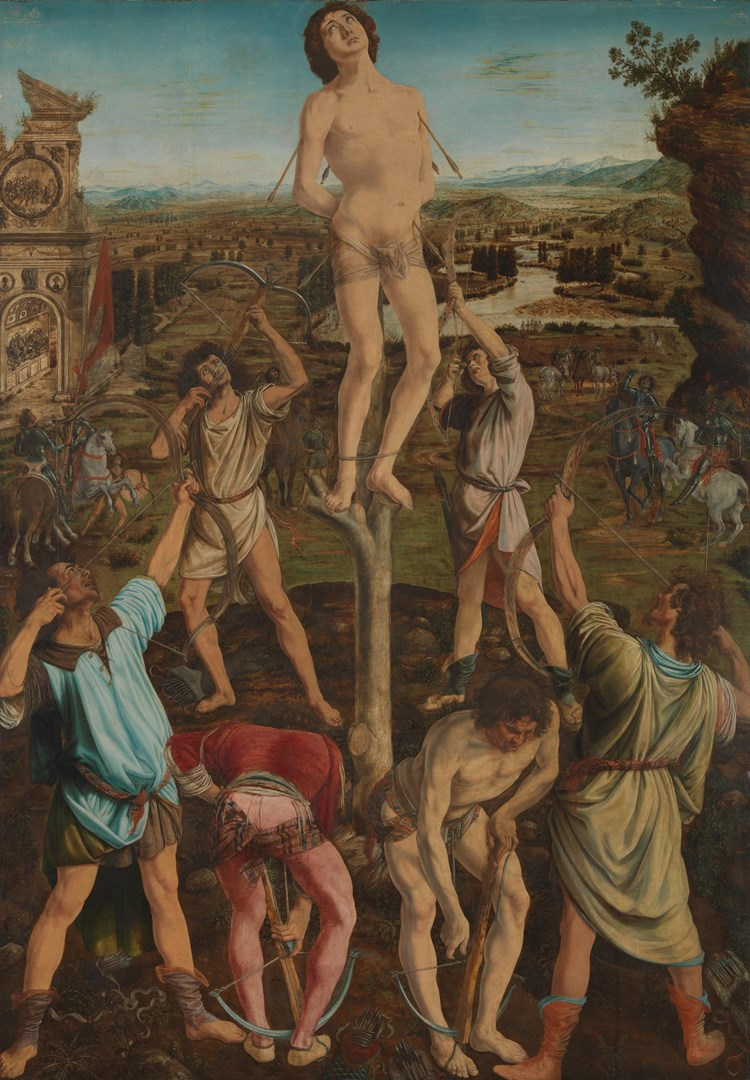 The Martyrdom of Saint Sebastian by Antonio del Pollaiuolo and Piero del Pollaiuolo