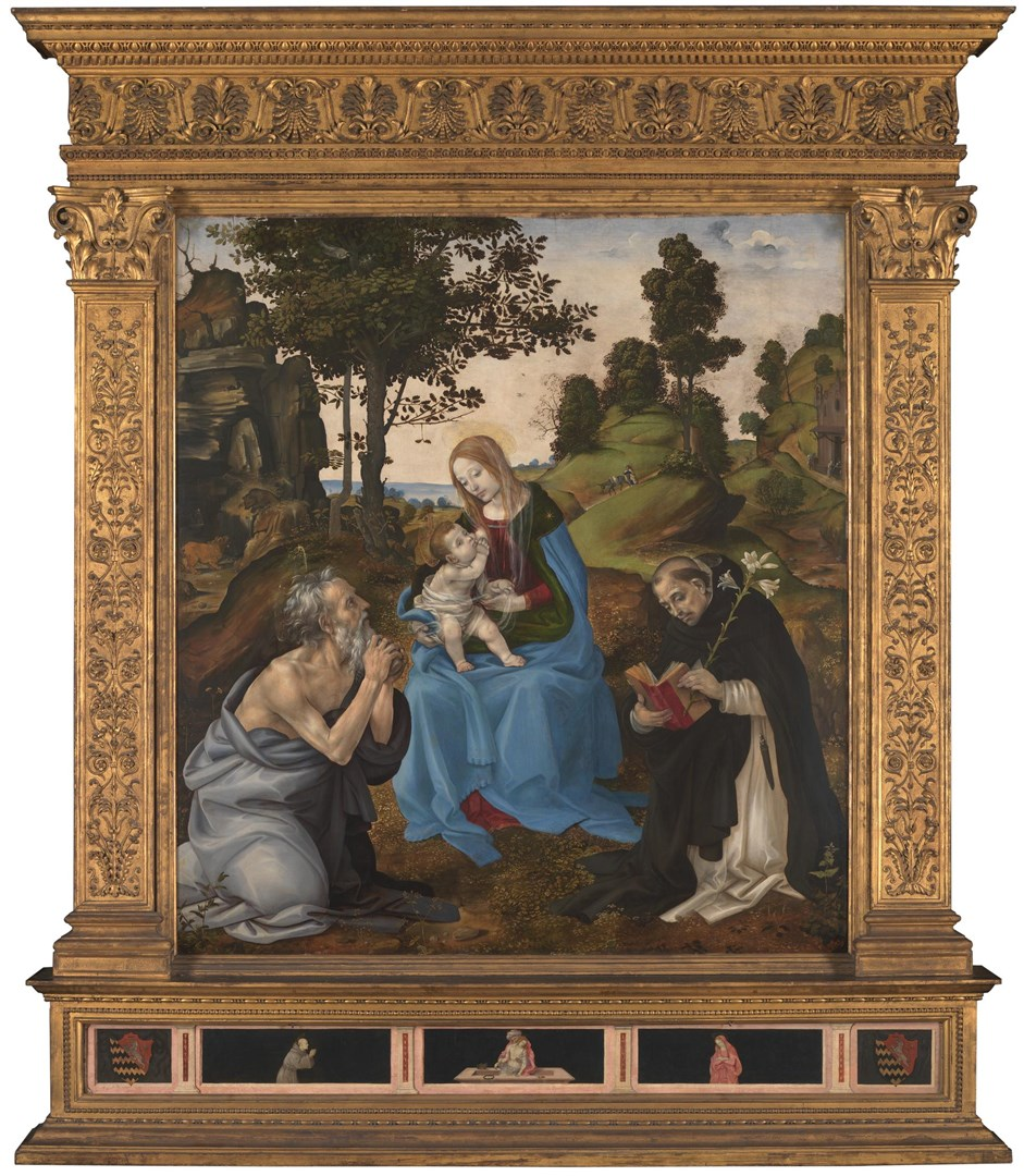 The Virgin and Child with Saints Jerome and Dominic by Filippino Lippi