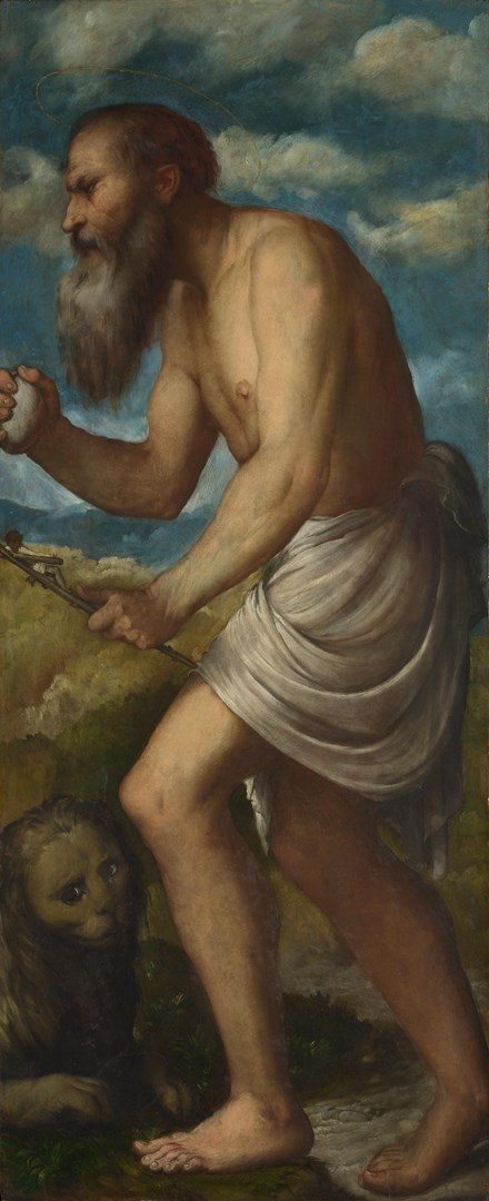 Saint Jerome by Girolamo Romanino