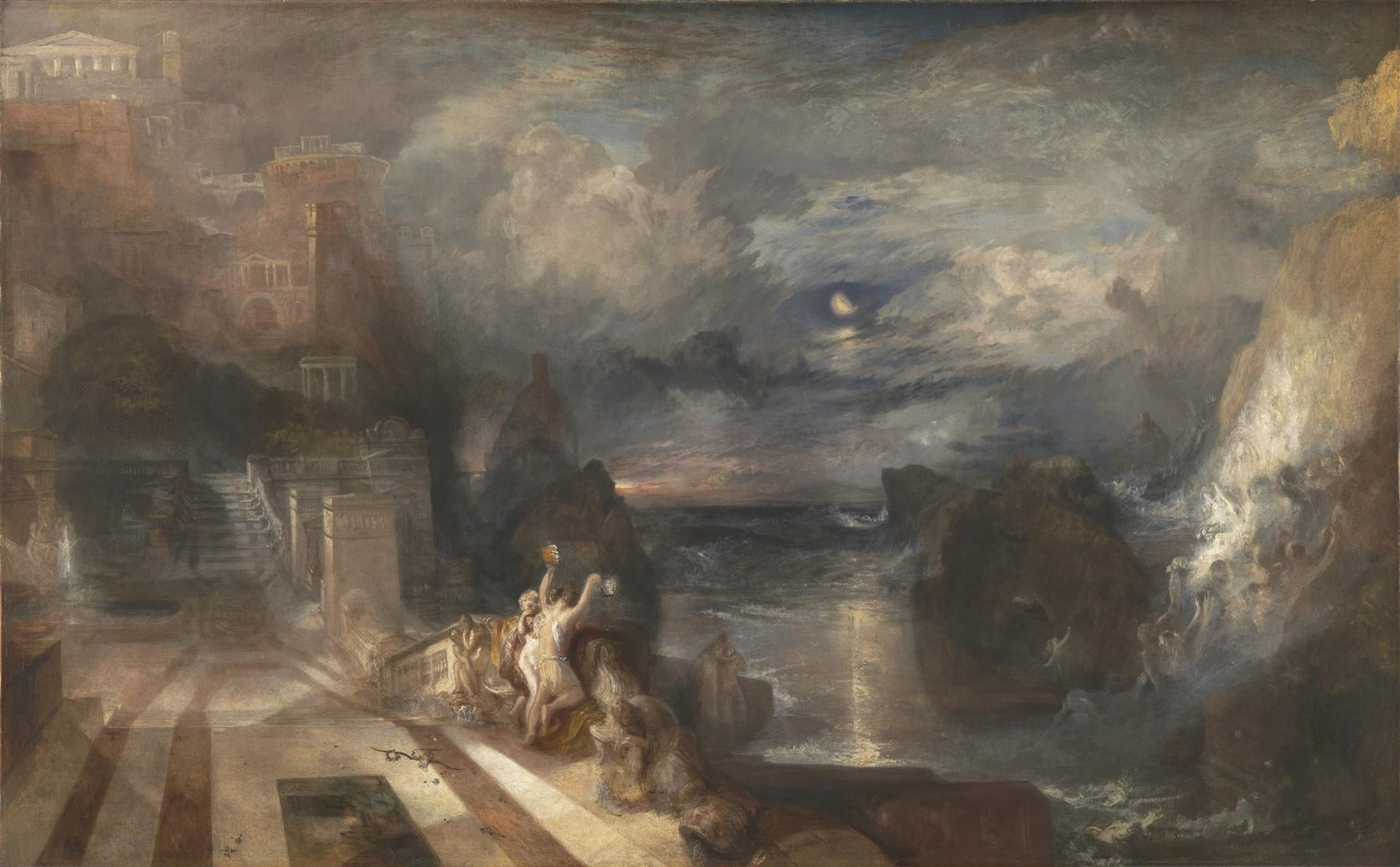 The Parting of Hero and Leander by Joseph Mallord William Turner