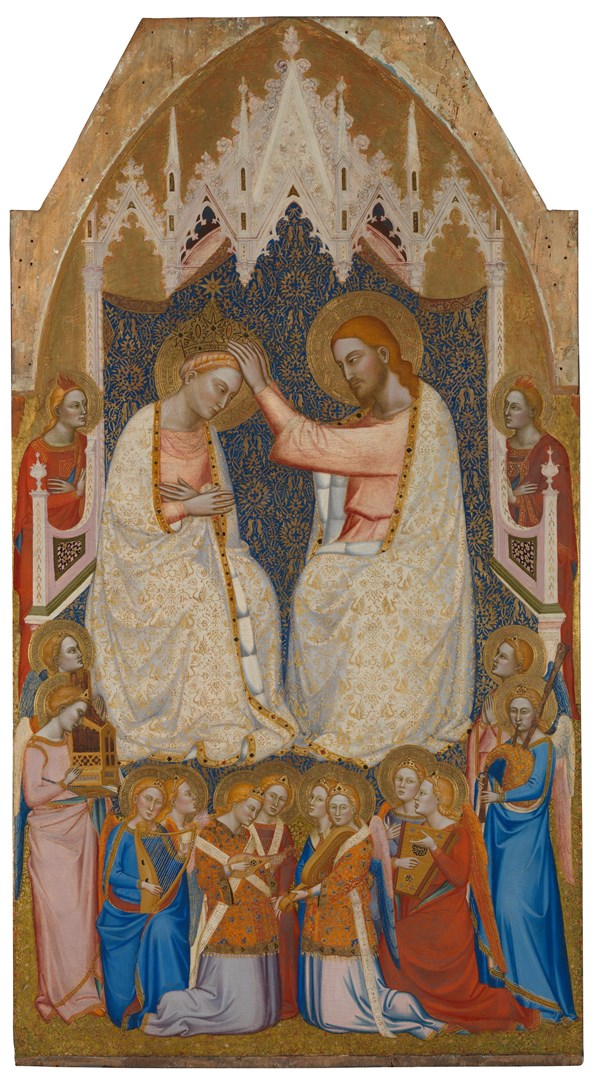 The Coronation of the Virgin: Central Main Tier Panel by Jacopo di Cione and workshop