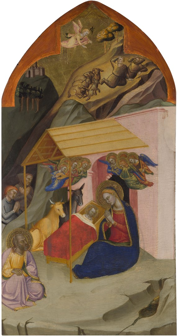 The Nativity with the Annunciation to the Shepherds by Jacopo di Cione and workshop