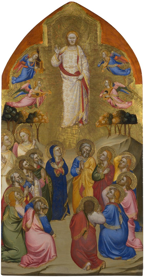 The Ascension: Upper Tier Panel by Jacopo di Cione and workshop