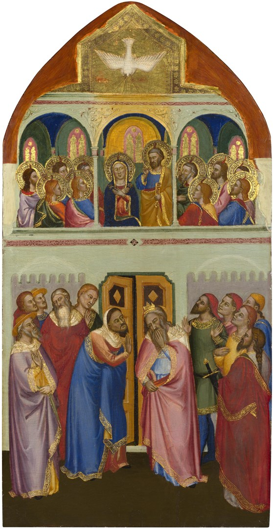 Pentecost: Upper Tier Panel by Jacopo di Cione and workshop