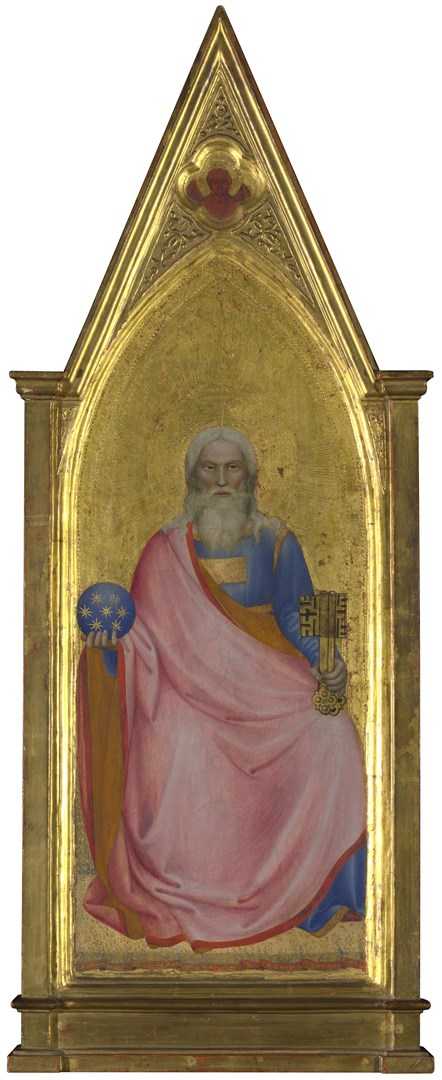 The Apocalyptic Christ (Son of Man): Central Pinnacle Panel by Giovanni da Milano