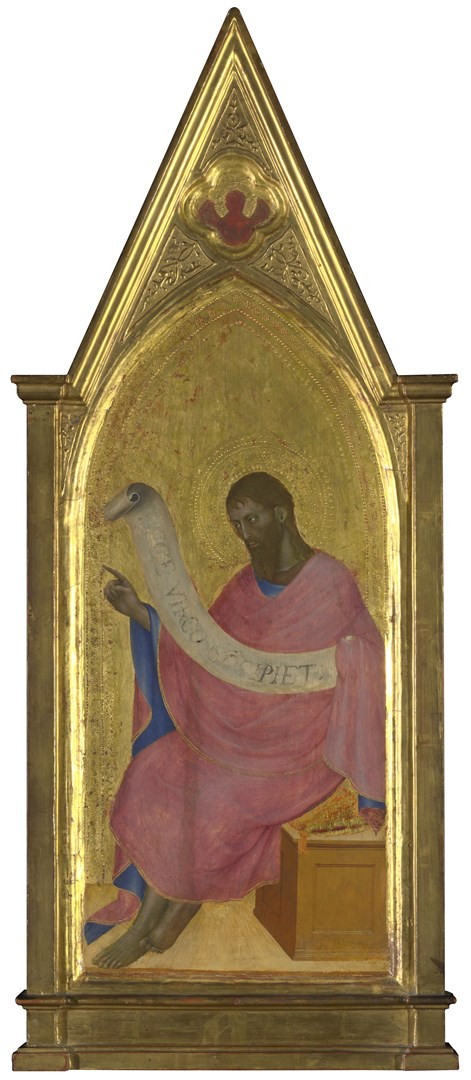 Saint John the Baptist: Right Pinnacle Panel by Giovanni da Milano