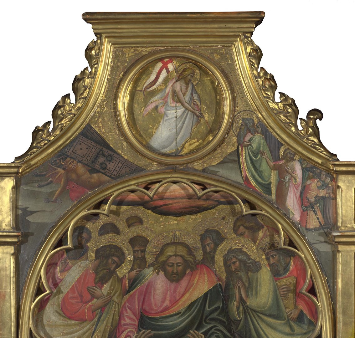 The Descent into Limbo: Roundel above Centre Panel by Giovanni dal Ponte