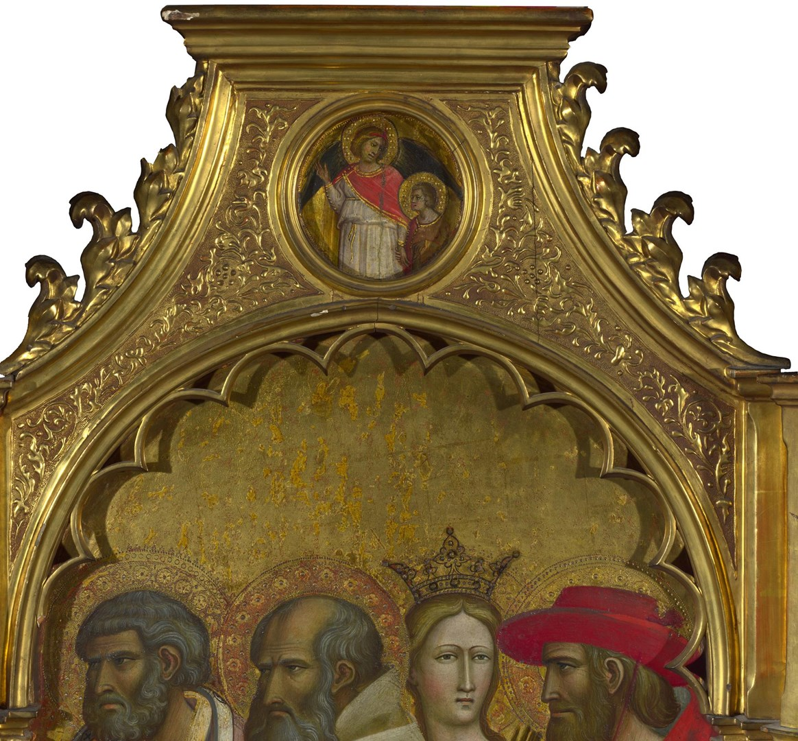 Saints Raphael and Tobias: Roundel above Right Panel by Giovanni dal Ponte