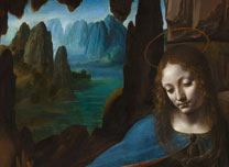 Detail from Leonardo 'The Virgin of the Rocks', about 1491-1508