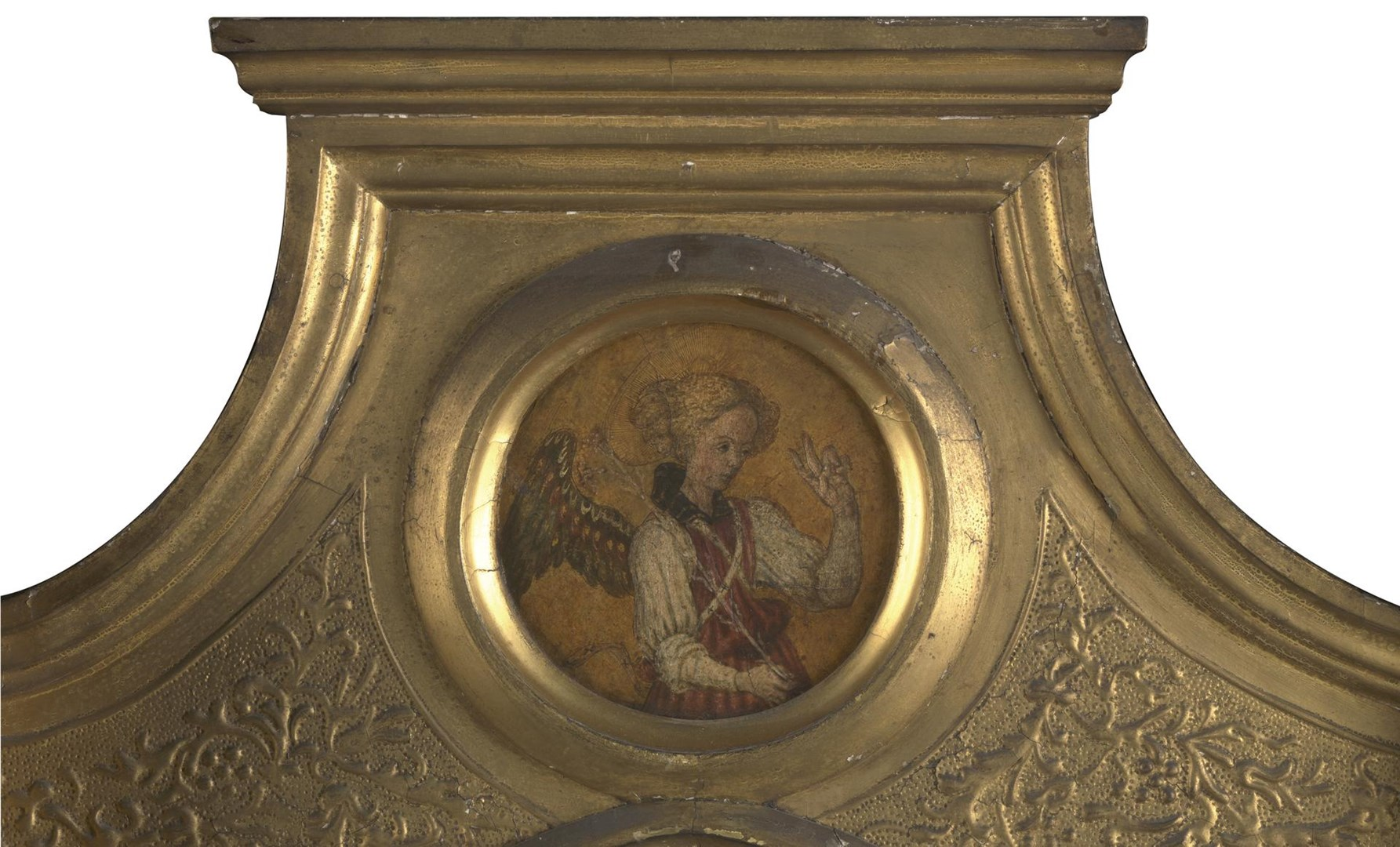 Gabriel: Frame Roundel (Left) by Probably by Jacopo di Antonio (Master of Pratovecchio?)