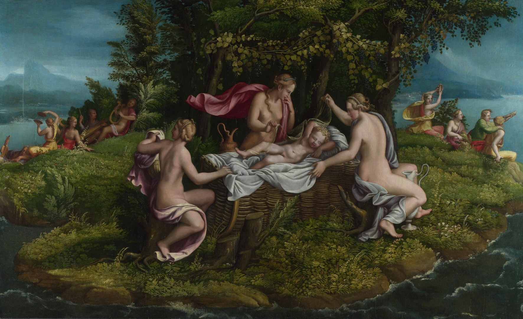 The Infancy of Jupiter by Workshop of Giulio Romano