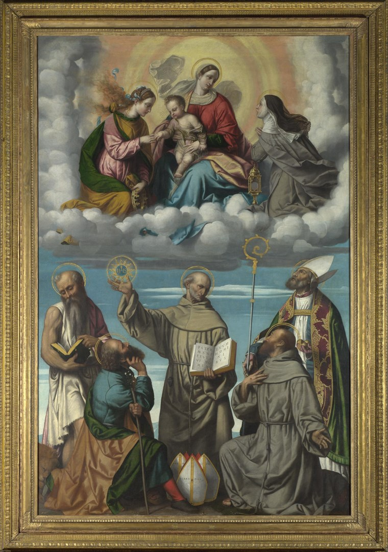 The Madonna and Child with Saints by Moretto da Brescia