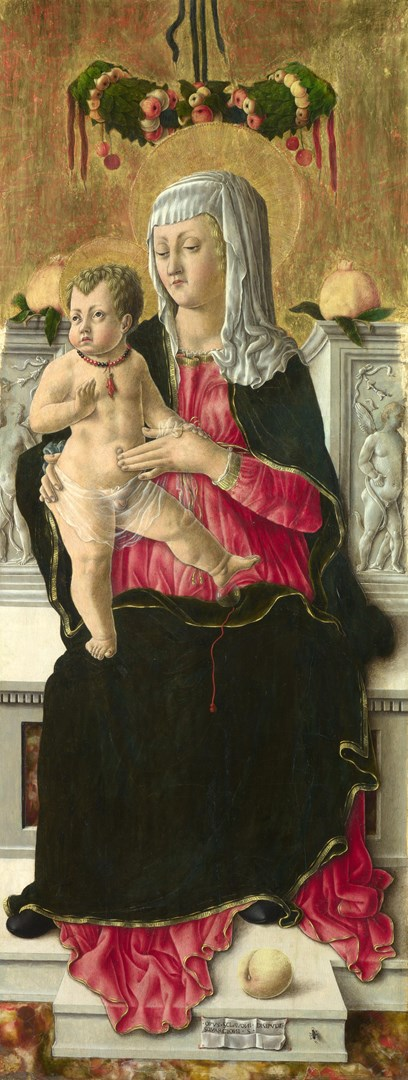 The Virgin and Child Enthroned by Giorgio Schiavone