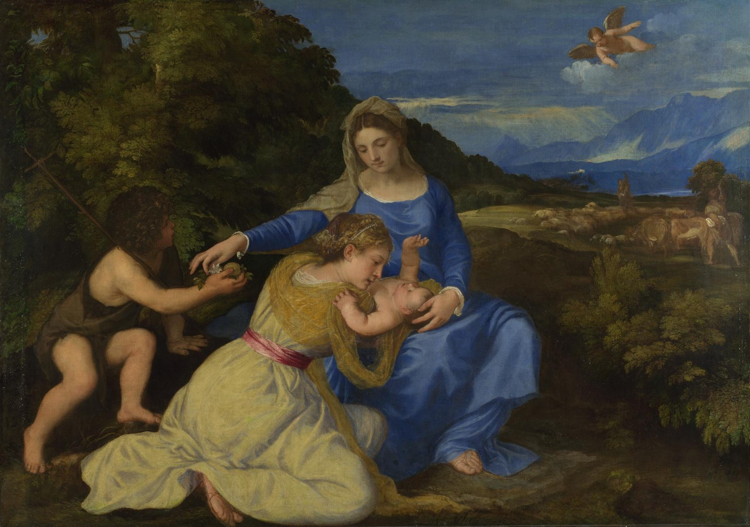 The Aldobrandini Madonna by Titian