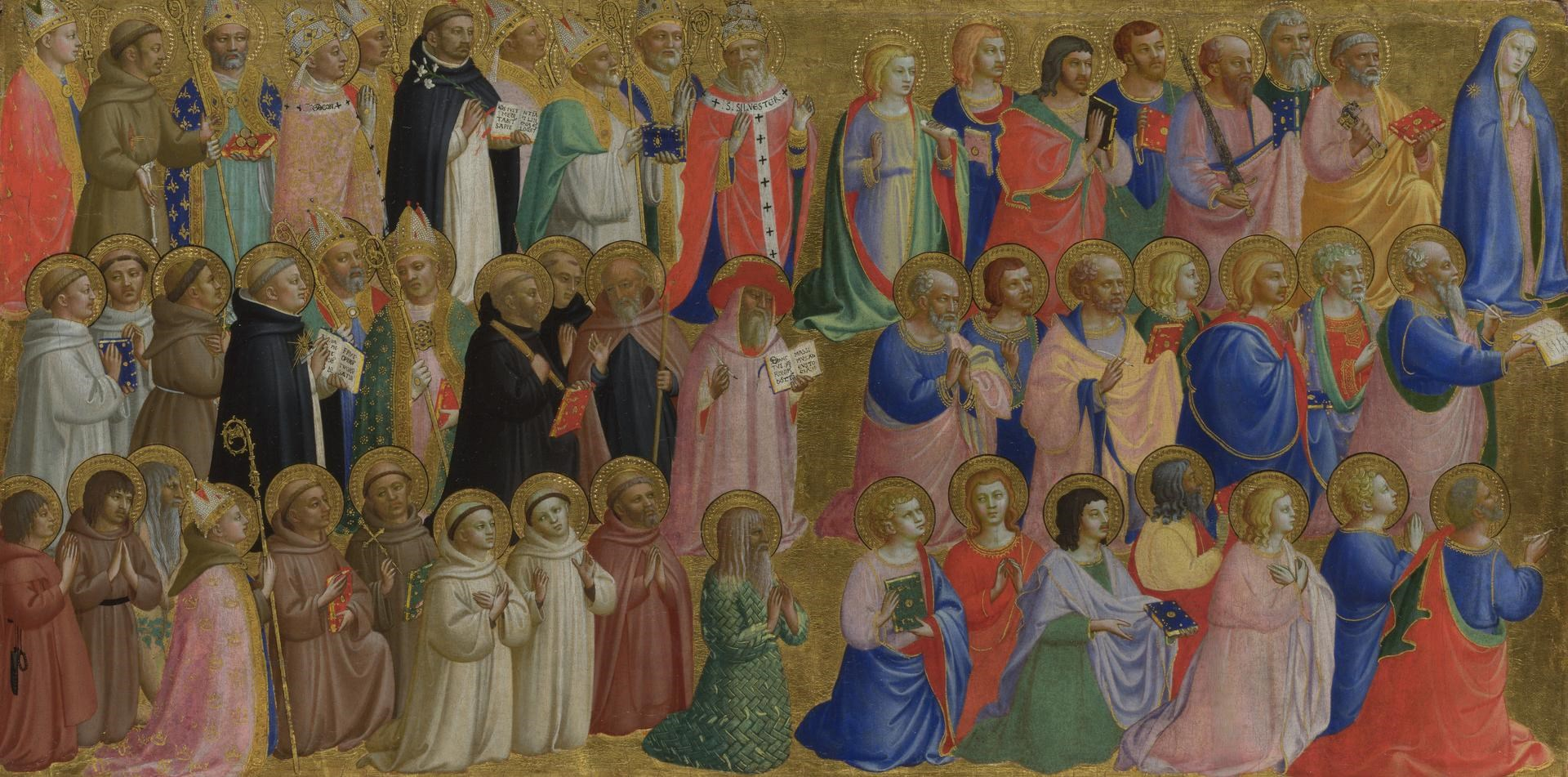 The Virgin Mary with the Apostles and Other Saints by Probably by Fra Angelico